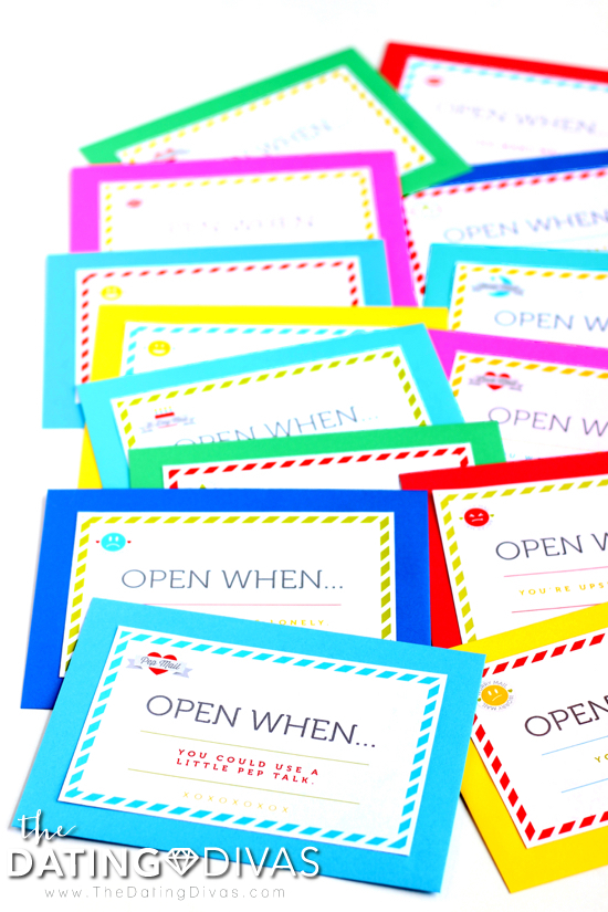 Open When Letters and Card Labels