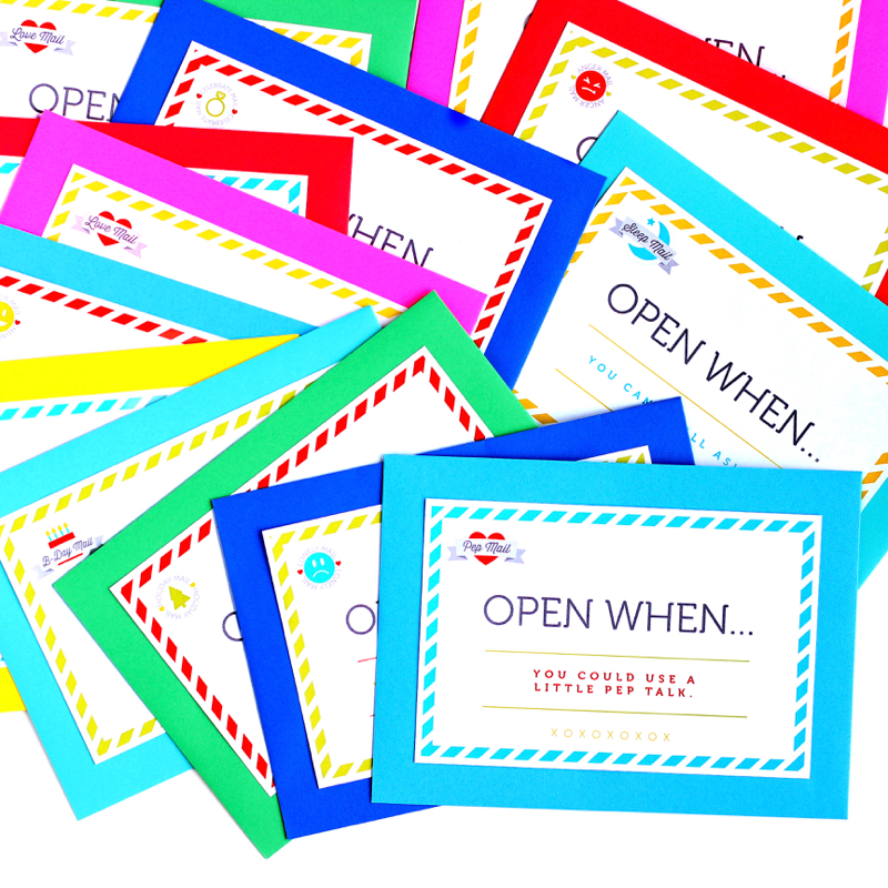 Open When Letters, Cards, And Prompts
