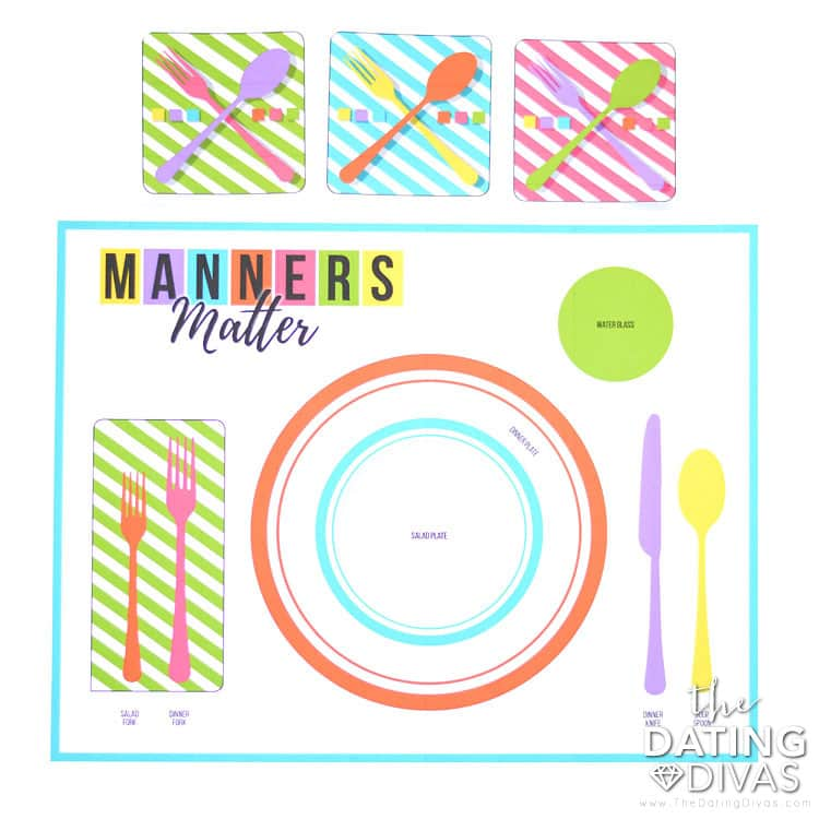 Table Manners Matter The Dating Divas. Printable Placemat. Worksheet. Table Manners Worksheet At Clickcart.co
