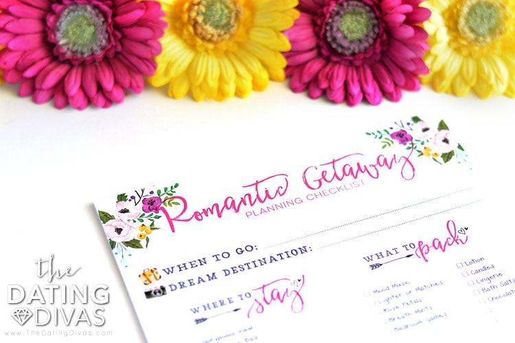 Romantic Getaway Hotel Checklist