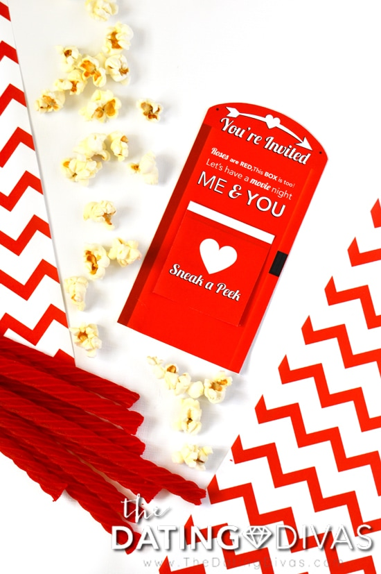 Romantic Redbox Date Night Invite