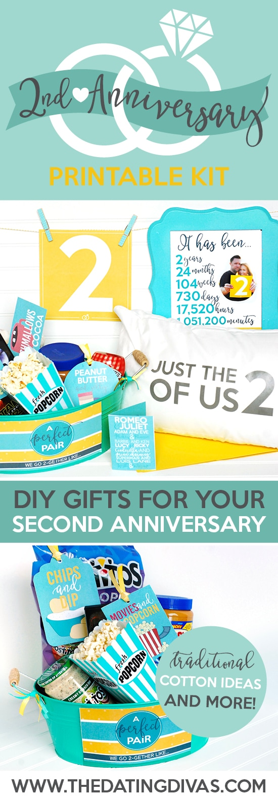 2aa002fba605 Second Anniversary Gift Printable Kit - The Dating Divas