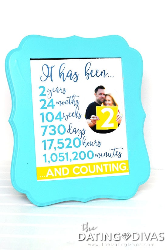 Second Anniversary Photo Frame Idea