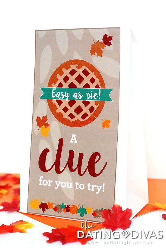 Thanksgiving Scavenger Hunt Clue Bag