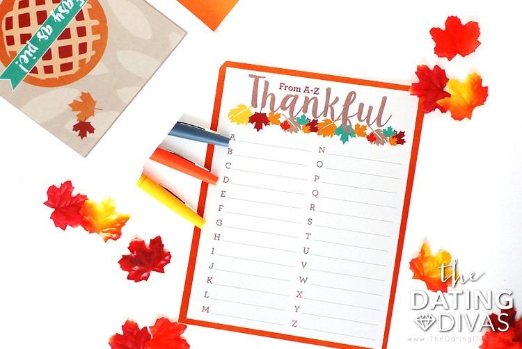 Thanksgiving Scavenger Hunt Scattergories Game