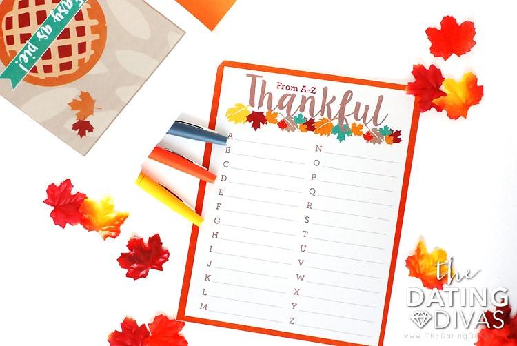 Thanksgiving Scavenger Hunt Scattergories Game