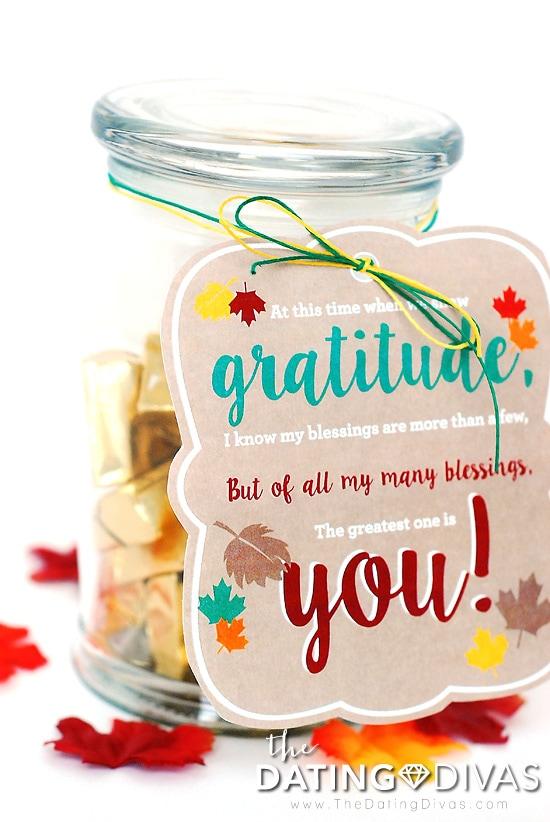 Gratitude Gift Idea Treat and Tag