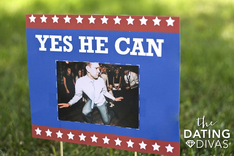 Yes He Can campaign sign!