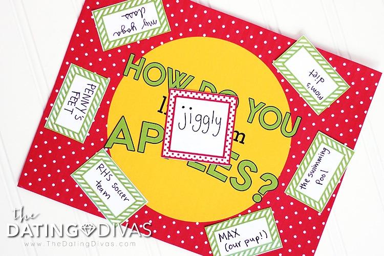 Caramel apple party game idea.