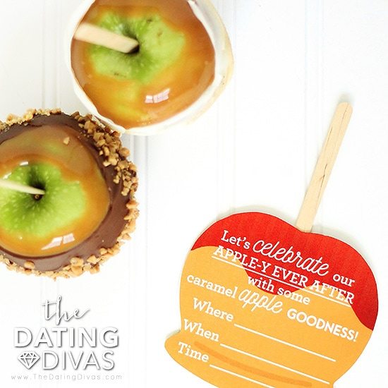 Invitation to make caramel apples together