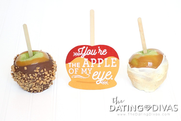 Party invitation to make caramel apples