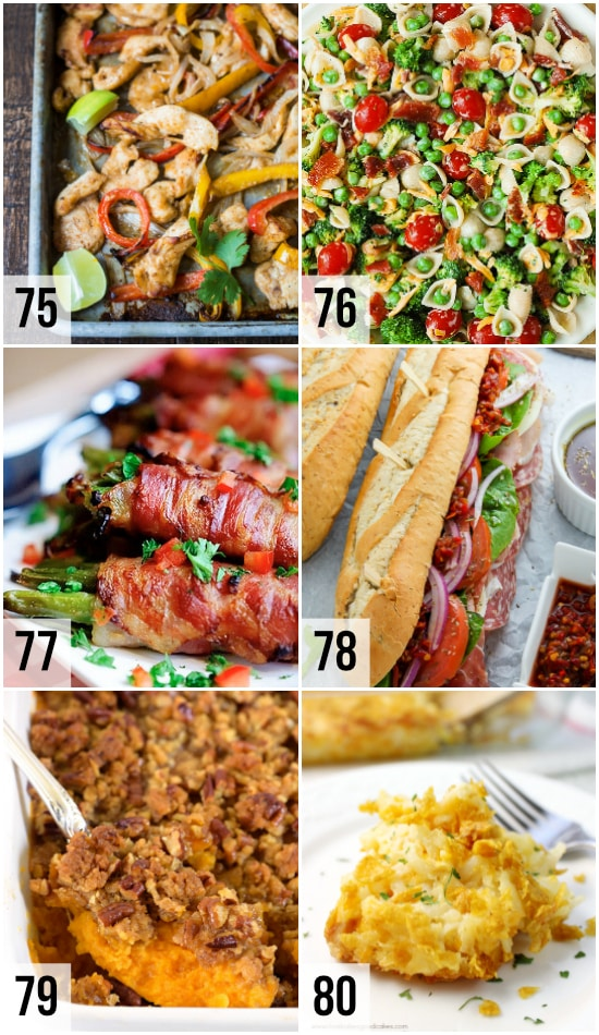 Potluck Party Dishes