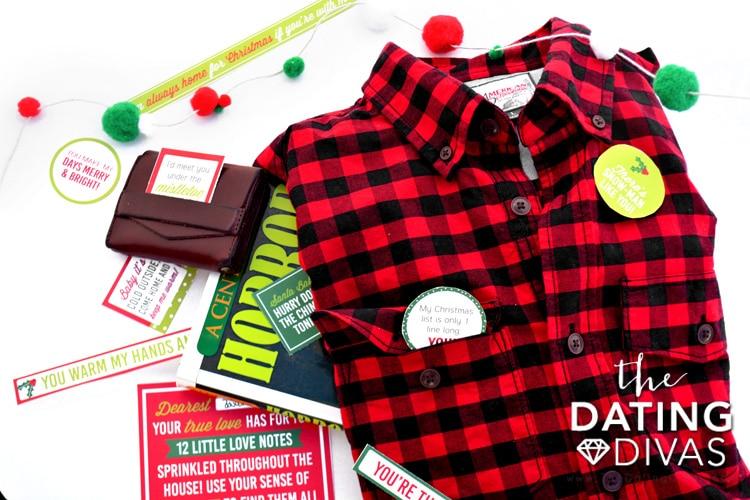 Mini love notes for the 5 Senses Christmas gift