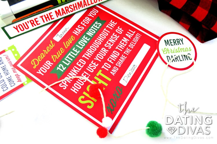 Christmas Love Notes and 5 Senses Gift Printables