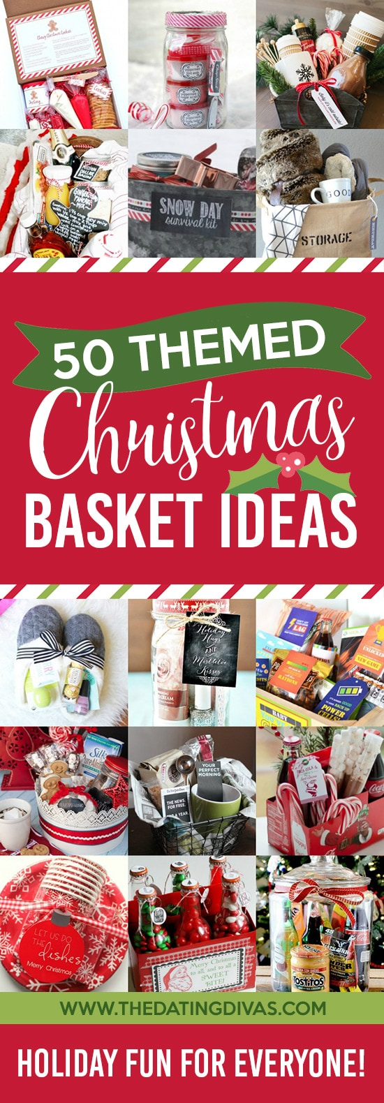 50 themed christmas basket ideas the dating divas for Homemade christmas gift baskets for couples