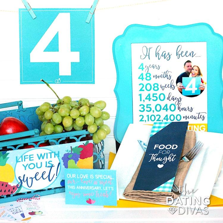 4th Anniversary Printable Kit