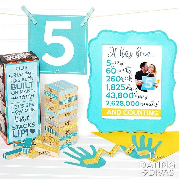 5th Anniversary Printable Kits