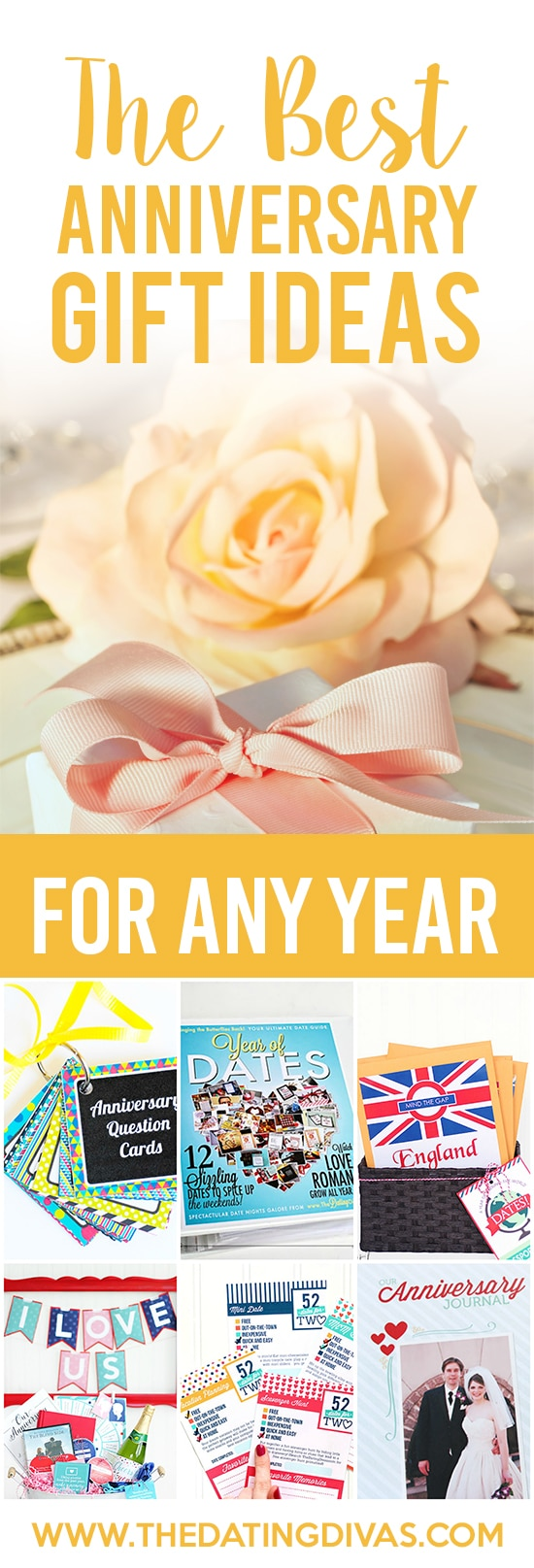 Best Anniversary Gift Ideas for ANY Year