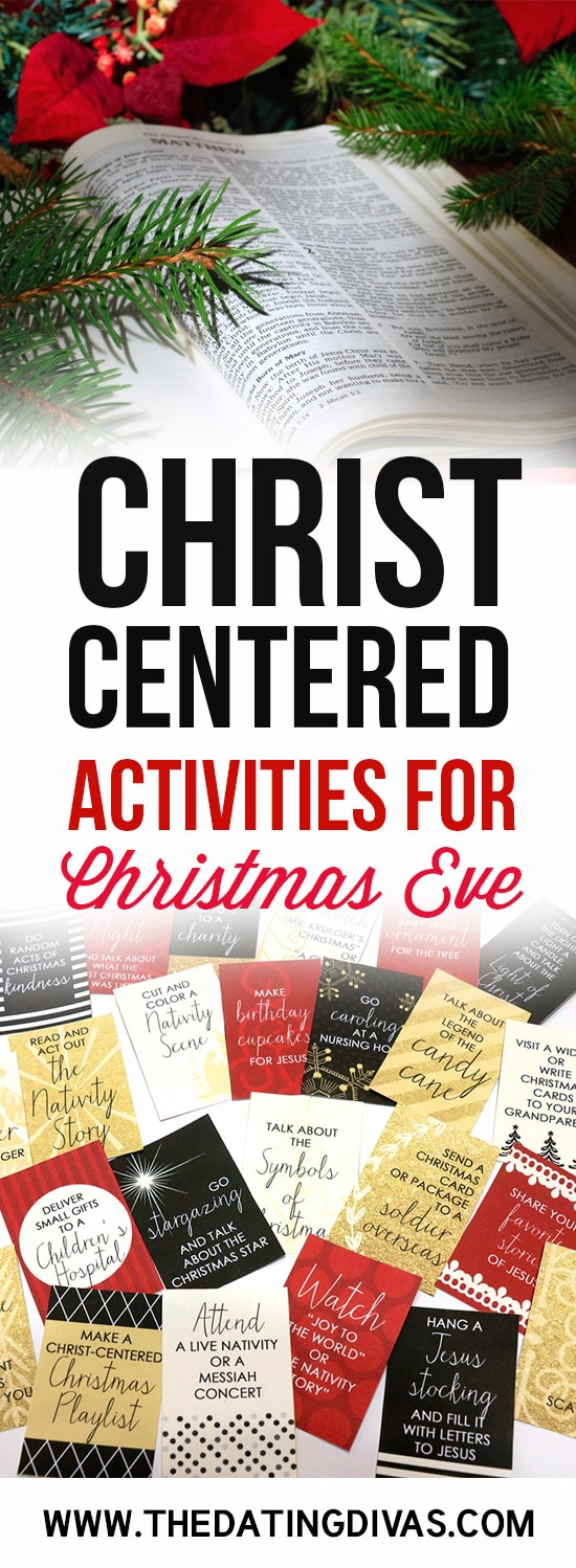 christ centered christmas eve activities