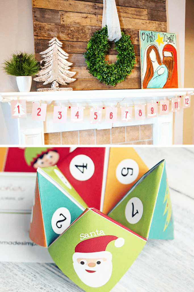 Christmas Cootie Catcher and Advent Banner