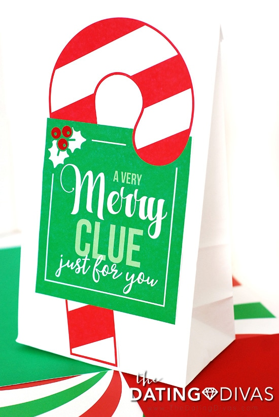 Christmas Scavenger Hunt Clue Bag