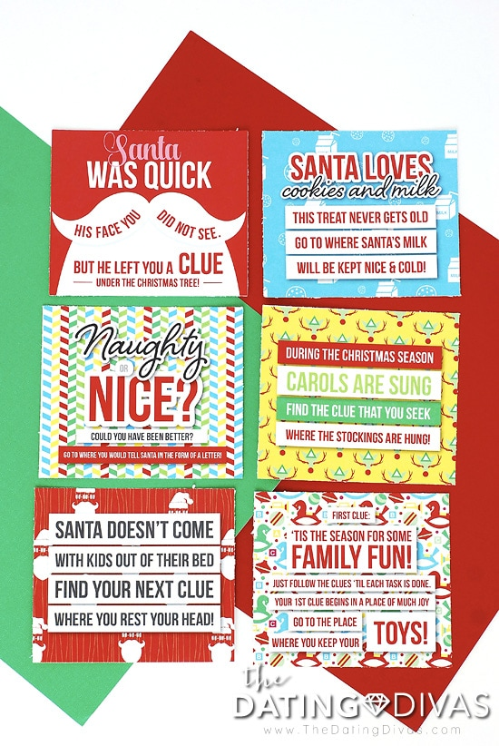 image relating to Christmas Scavenger Hunt Printable Clues known as Xmas Scavenger Hunt - The Relationship Divas