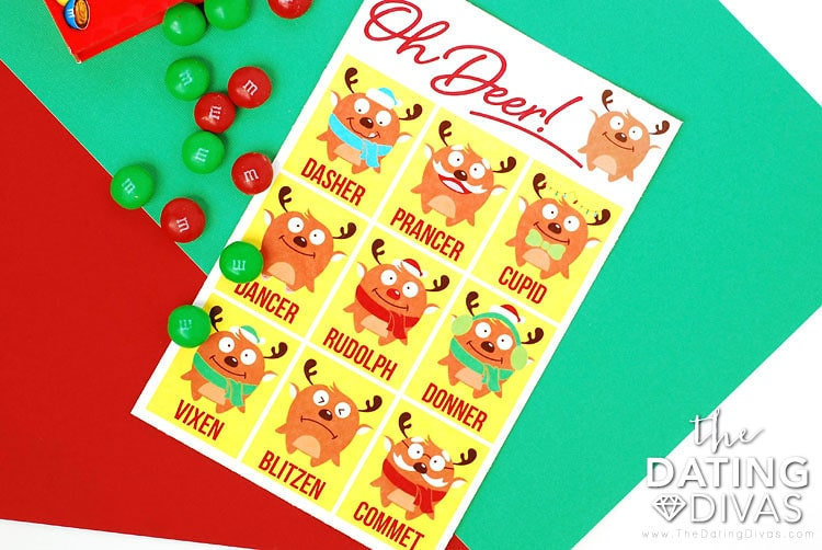 Christmas Scavenger Hunt Oh Deer Game With M&Ms