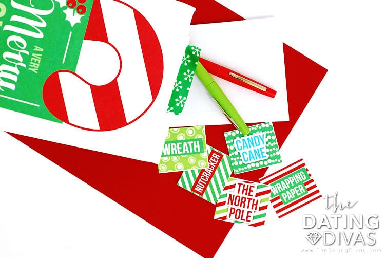 Christmas Scavenger Hunt Pictionary Game