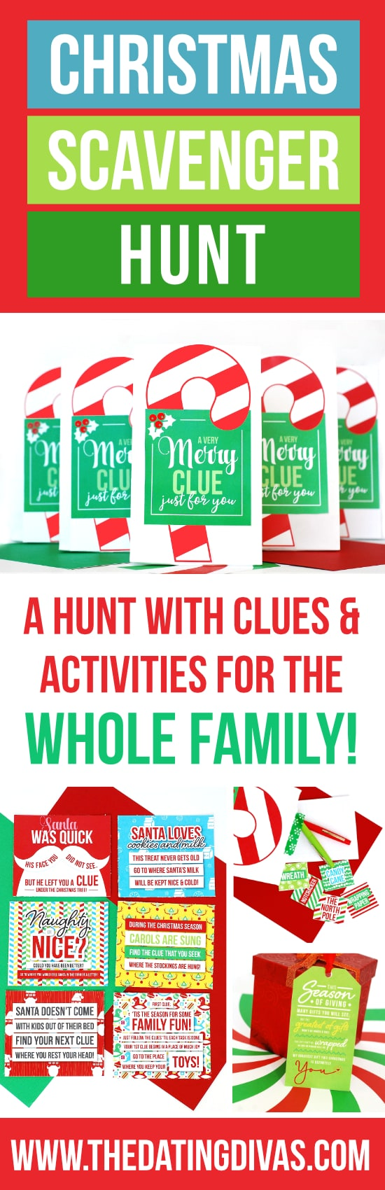 fun christmas scavenger hunt with free printable great christmas ...