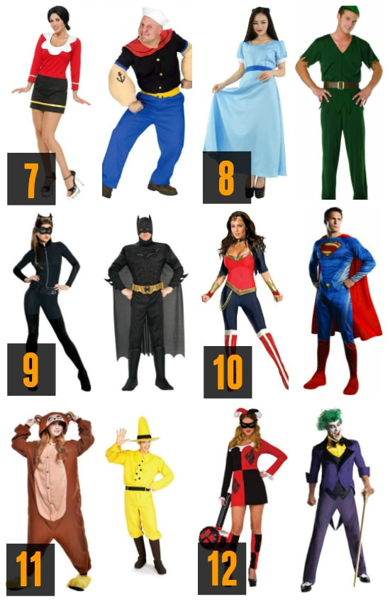Couples Costume Characters Halloween Ideas