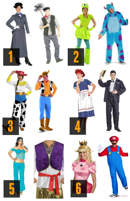 Amazing Couples Costume Characters Ideas