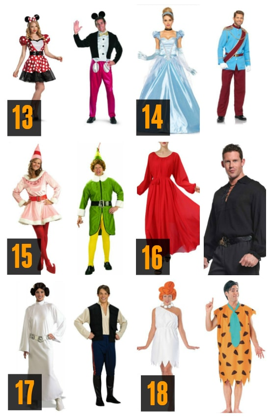 Couples Costumes: Popular Characters Ideas