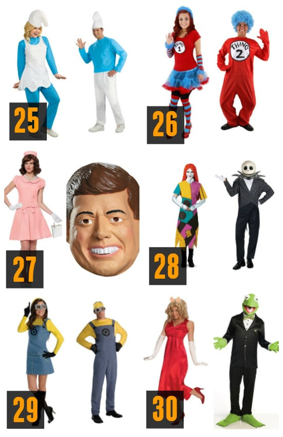Couples Halloween Costume Characters Ideas