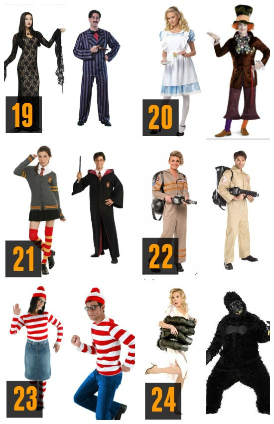Couples Popular Costume Characters Halloween Ideas