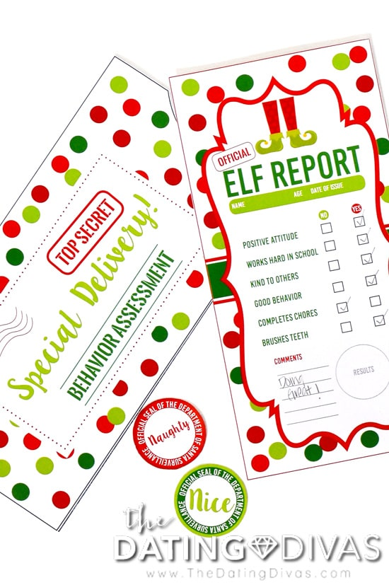 Kid-Friendly Elf Report Card