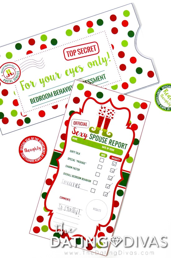 Elf Report Card for Spouses