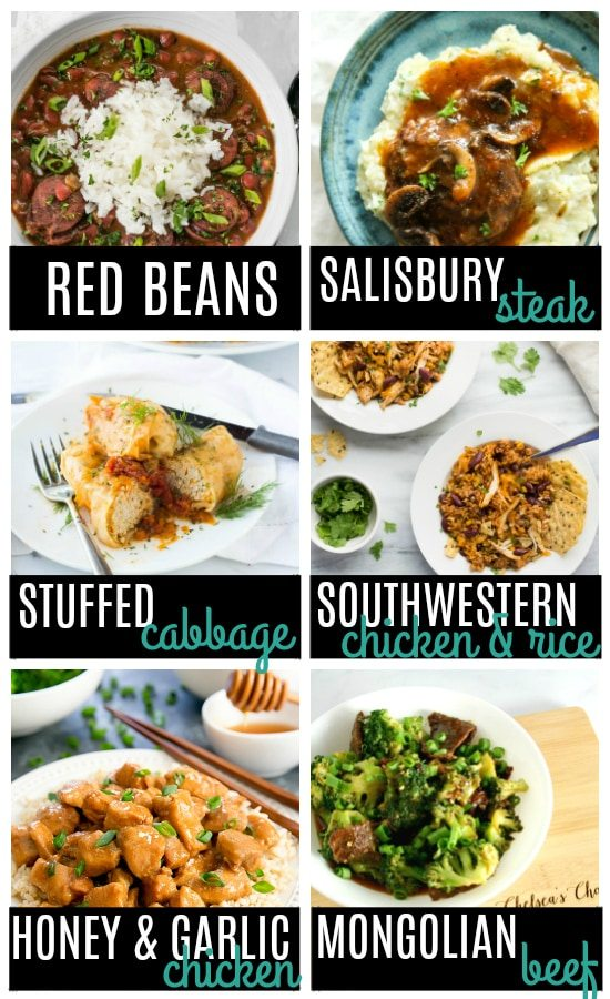 One Pot Dinner Ideas in the Instant Pot