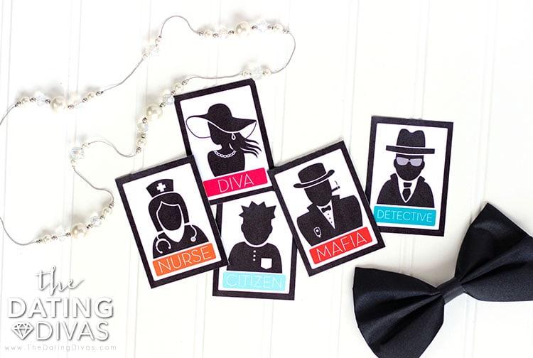 Mafia Game Night Cards