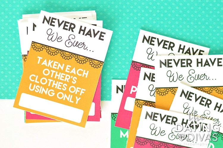 Never Have We Ever Bedroom Game Card Deck #intimateidea