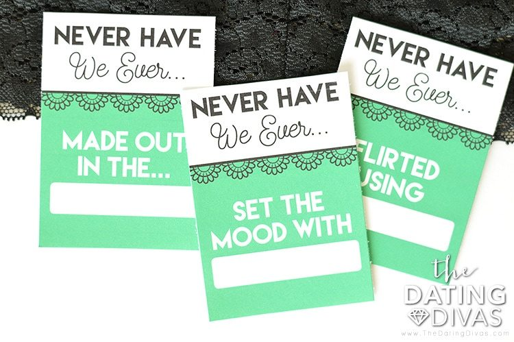 Never Have We Ever Intimate Bedroom Game Cards #sexygame #bedroomidea