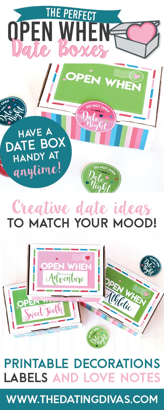 Open When Date Night Box