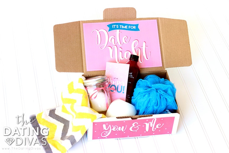 Open When Pampering Date Night Box