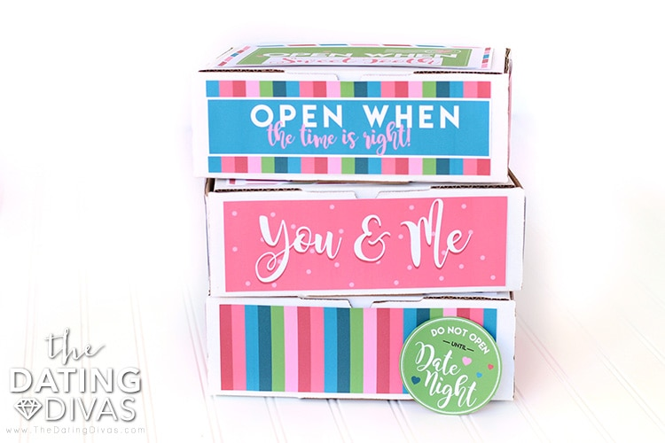 Open When Date Night Box Gift Idea
