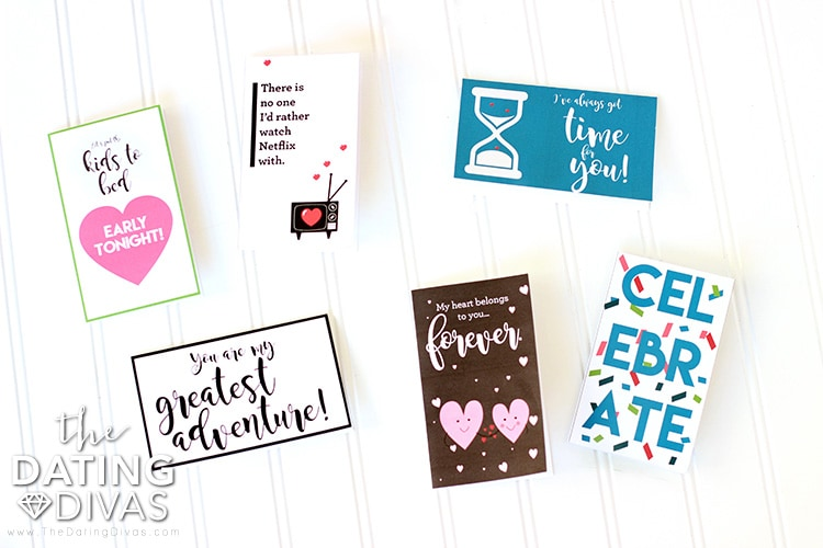 Open When Date Night Box Love Notes