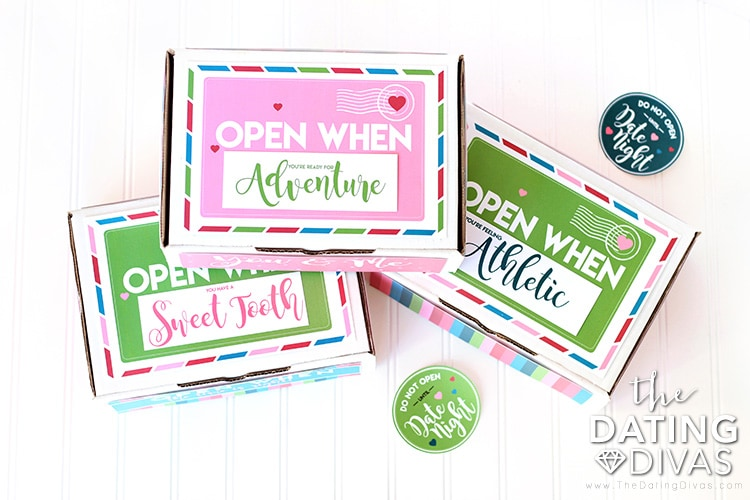 Open When Date Night Box Printables
