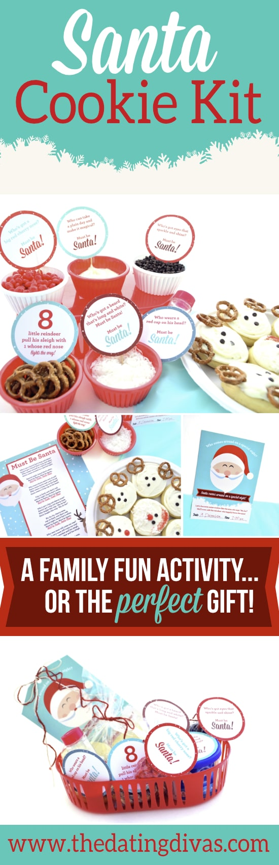 Give the gift of time to your own family - or a neighbor - with this Santa Cookie Kit.