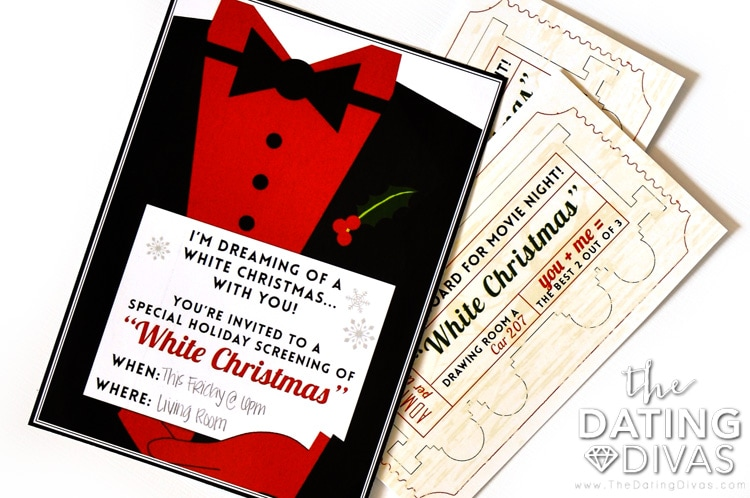 White Christmas Movie Night Invite