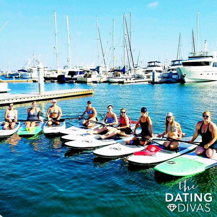 Paddle boarding on the bay in beautiful San Diego, California!