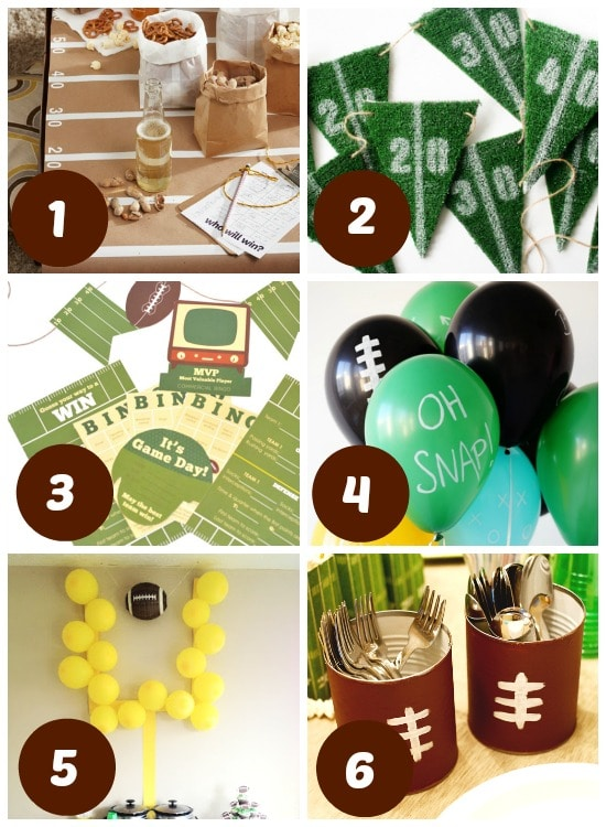 DIY decorations for this year's Super Bowl.