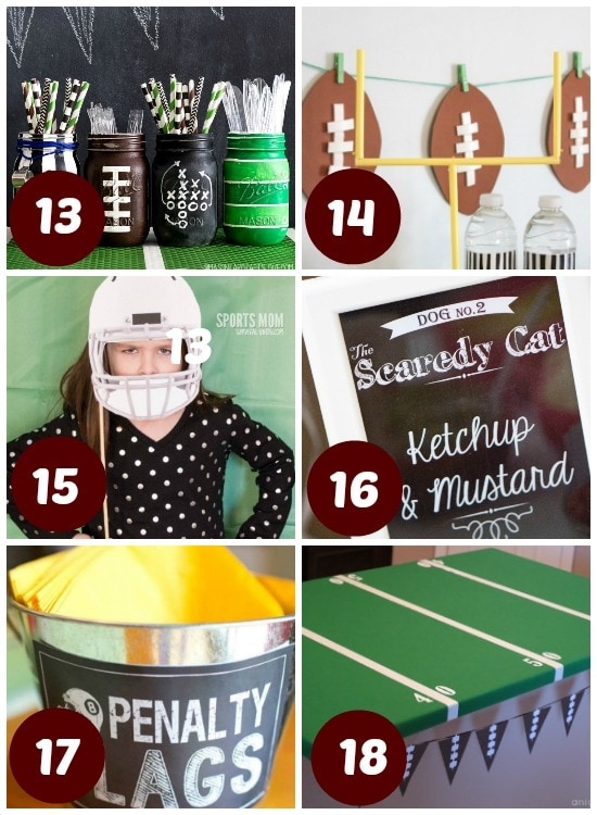 Decorate your home for the Super Bowl.